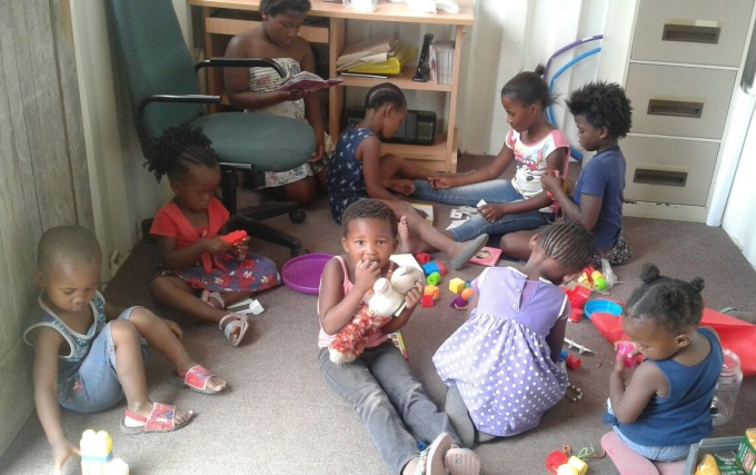 Isibindi kinderen kantoortje